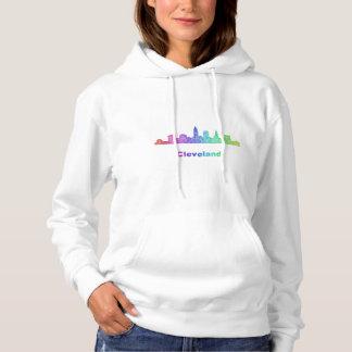 Rainbow Cleveland skyline Hoodie