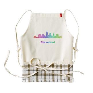 Rainbow Cleveland skyline Zazzle HEART Apron