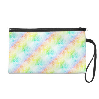Rainbow Cloud Background Customize or Stay Cloudy Wristlet Purse