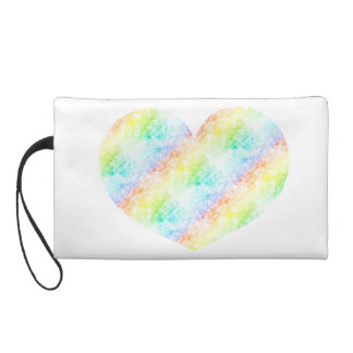 Rainbow Cloud Background Customize or Stay Cloudy Wristlet Clutches