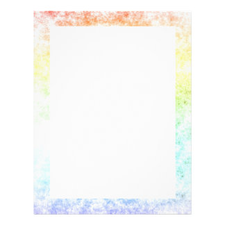 Rainbow Cloud Background Customize or Stay Cloudy Letterhead