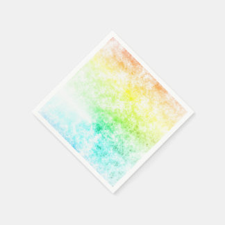 Rainbow Cloud Background Customize or Stay Cloudy Paper Napkin
