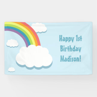 Rainbow Cloud Birthday Banner