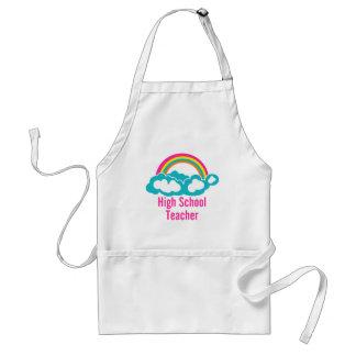 Rainbow Cloud High School Teacher Adult Apron