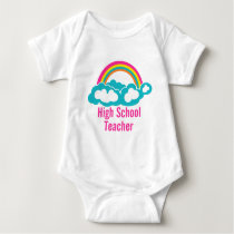 Rainbow Cloud High School Teacher Baby Bodysuit