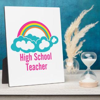 Rainbow Cloud High School Teacher Plaques