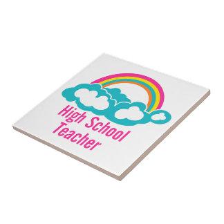 Rainbow Cloud High School Teacher Tile