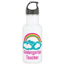 Rainbow Cloud Kindergarten Teacher Stainless Steel Water Bottle