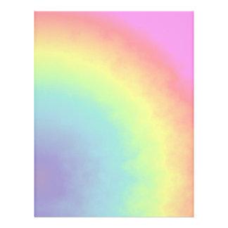 rainbow cloud letterhead