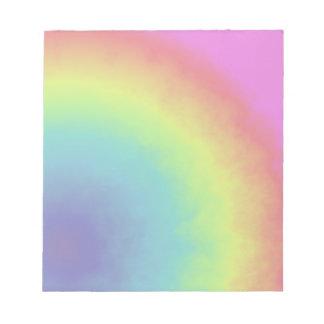 rainbow cloud notepad