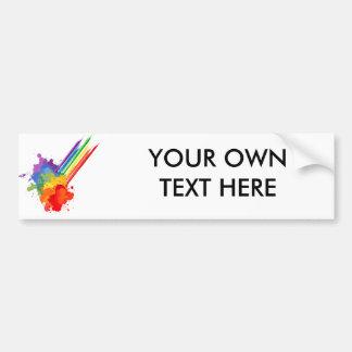 RAINBOW CLOUD -.png Bumper Sticker
