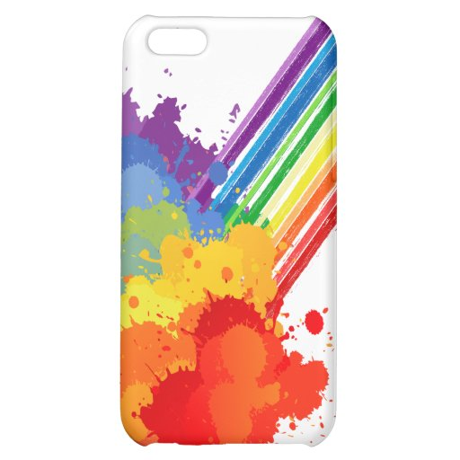 RAINBOW CLOUD -.png Cover For iPhone 5C
