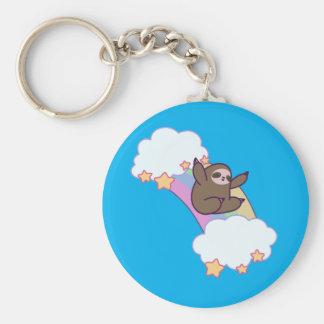 Rainbow Cloud Sloth Keychain