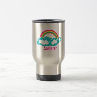 Rainbow Cloud Solderer Travel Mug