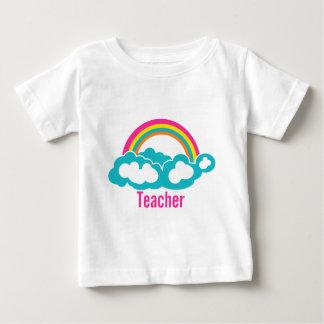Rainbow Cloud Teacher Baby T-Shirt