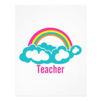 Rainbow Cloud Teacher Letterhead
