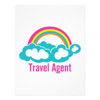 Rainbow Cloud Travel Agent Letterhead Design