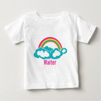 Rainbow Cloud Waiter Baby T-Shirt
