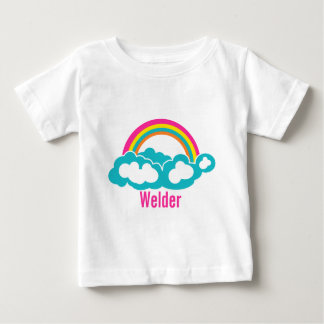 Rainbow Cloud Welder Baby T-Shirt