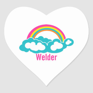 Rainbow Cloud Welder Heart Sticker