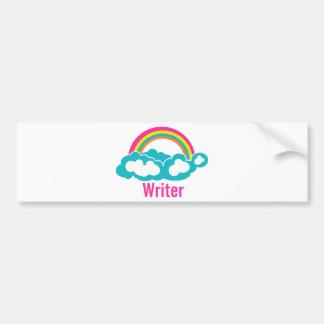 Rainbow Cloud Writer Bumper Sticker