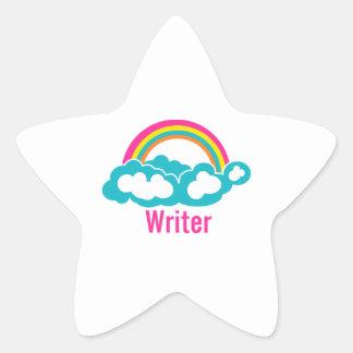 Rainbow Cloud Writer Star Sticker