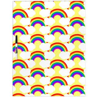 Rainbow Clouds Dry Erase Board