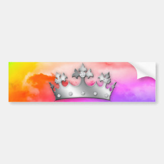 Rainbow Clouds God's Crown of Glory Bumper Sticker
