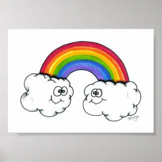 Rainbow Clouds of Joy Print