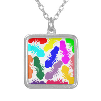 Rainbow Clouds Silver Plated Necklace