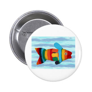 """Rainbow Clown Fish"" Buttons"