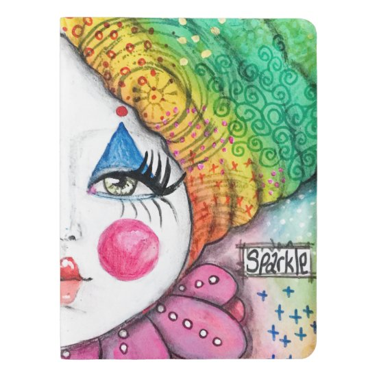 Rainbow Clown Mime Bright Colorful Sparkle Art Extra Large Moleskine Notebook