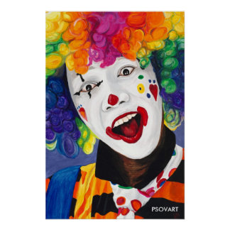 Rainbow Clown Poster