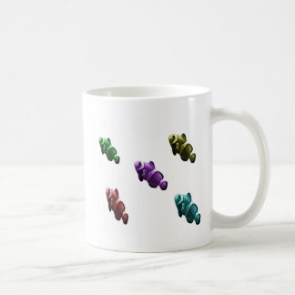 Rainbow clownfish swimming in the sky coffee mug