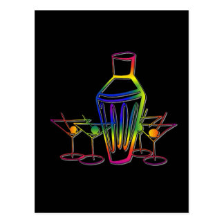 Rainbow Cocktails Post Card