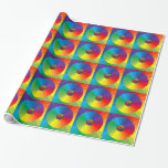 Rainbow Collage Gift Wrap Paper