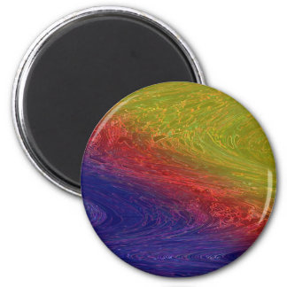 RAINBOW Collection  -  Graphic Designs 2 Inch Round Magnet