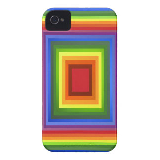 Rainbow Color Abstract Art iPhone 4 Case