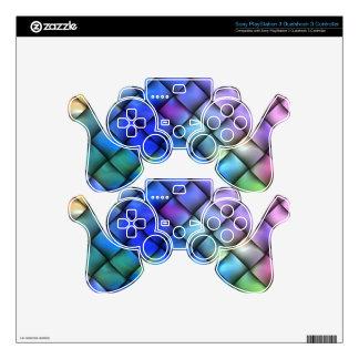 Rainbow Color Basket Weave PS3 Controller Skin