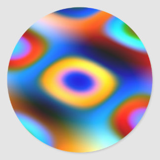 Rainbow Color Blobs Classic Round Sticker