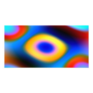 Rainbow Color Blobs Custom Photo Card