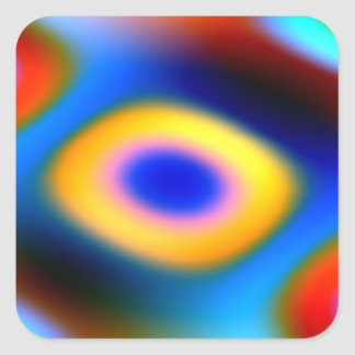 Rainbow Color Blobs Square Sticker