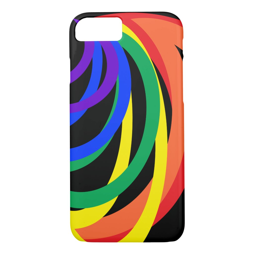 Rainbow Color Crescents Abstract iPhone 7 Case