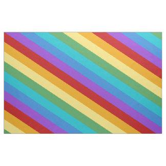 Diagonal stripe fabric zazzle for Rainbow color stripe watch
