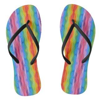 Rainbow Color Flip Flops