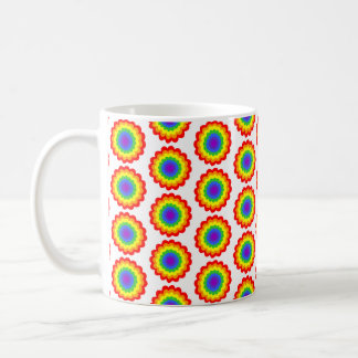 Rainbow Color Flower Pattern. Classic White Coffee Mug