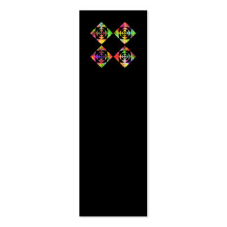 Rainbow Color Flowers. On Black. Double-Sided Mini Business Cards (Pack Of 20)