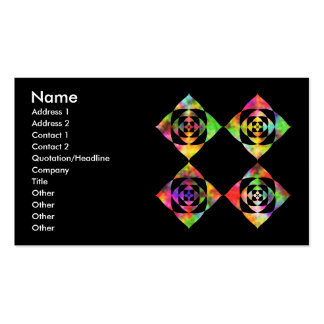 Rainbow Color Flowers. On Black. Double-Sided Standard Business Cards (Pack Of 100)