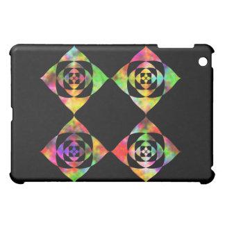 Rainbow Color Flowers. On Black. iPad Mini Case