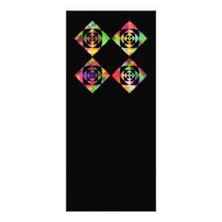 Rainbow Color Flowers. On Black. Personalized Rack Card